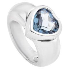 Piaget 18 Karat White Gold Topaz Heart Ring