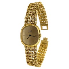 Piaget 18 Karat Yellow Gold Bracelet Watch