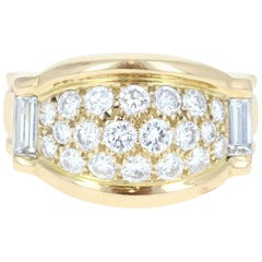Piaget 18 Karat Yellow Gold and Diamond Ring 1.15 Carat