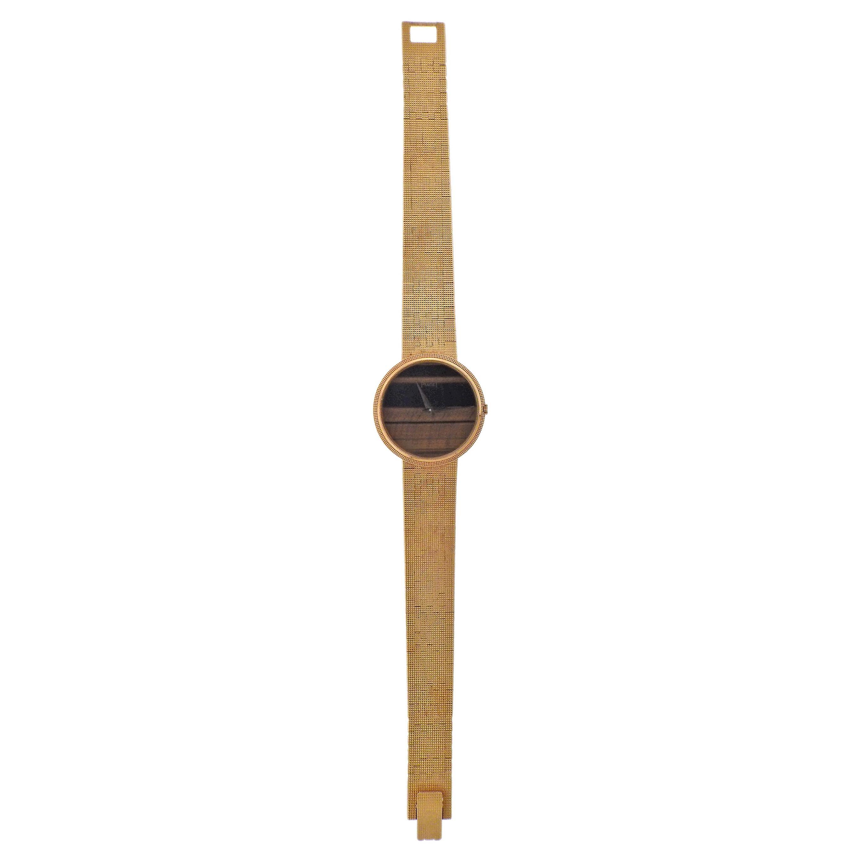 Piaget 1970s Tiger's Eye Gold Watch