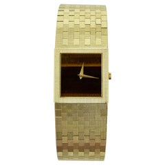 Piaget 1980s 18k Gold Tigers Eye Wrist Watch
