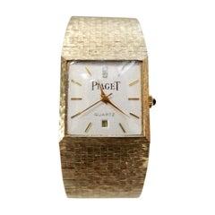 Piaget 1980s 18k Gold Wrist Watch