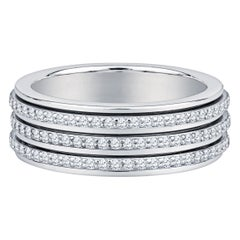 Piaget 2.35 Carat Round Diamond Three-Row Rotating Band in 18 Karat White Gold