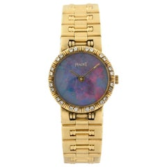 Piaget 80564 K 81 Dancer 18 Karat Yellow Gold Diamond Ladies Watch