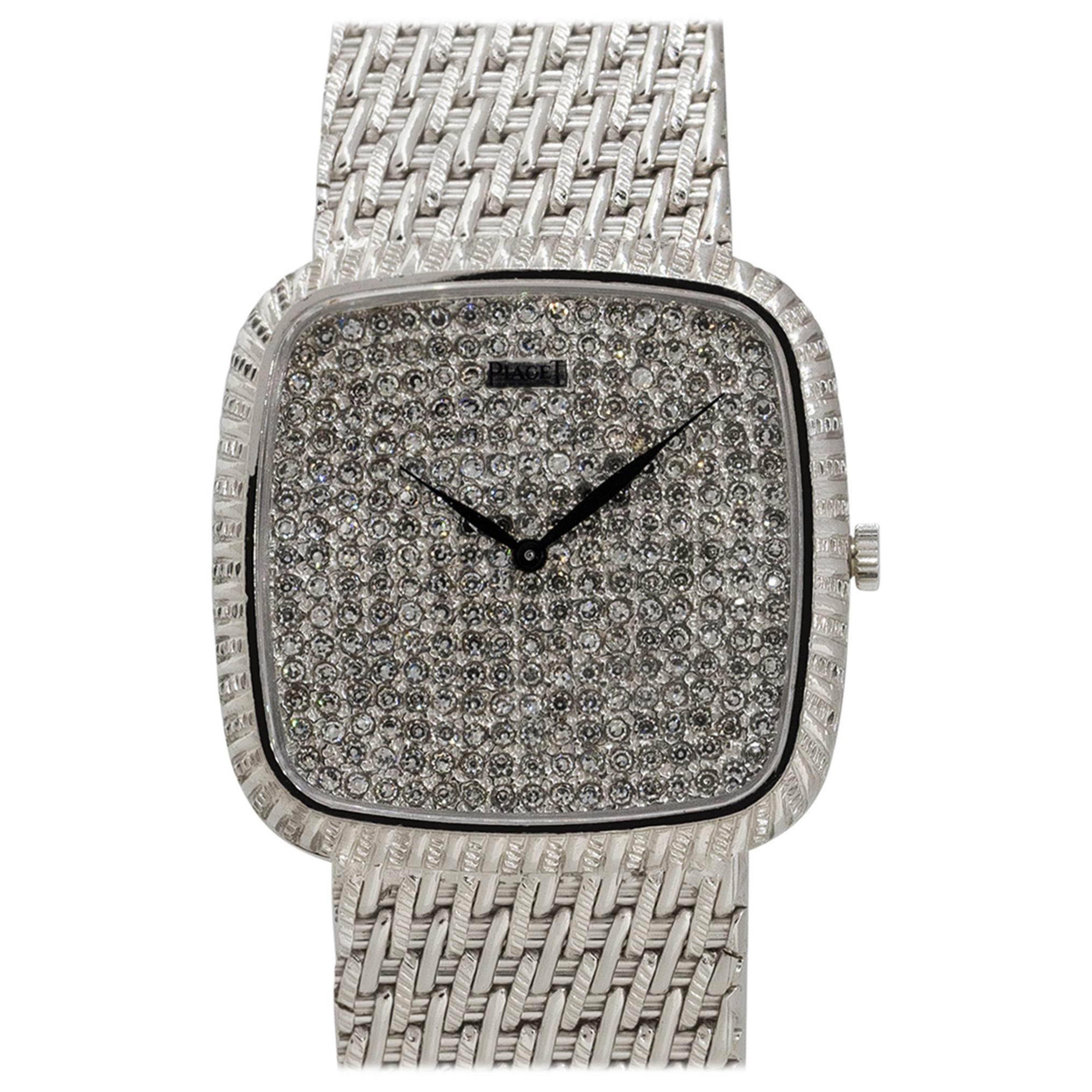 Piaget 9771P31 18k White Gold Diamond Dial Ladies Watch