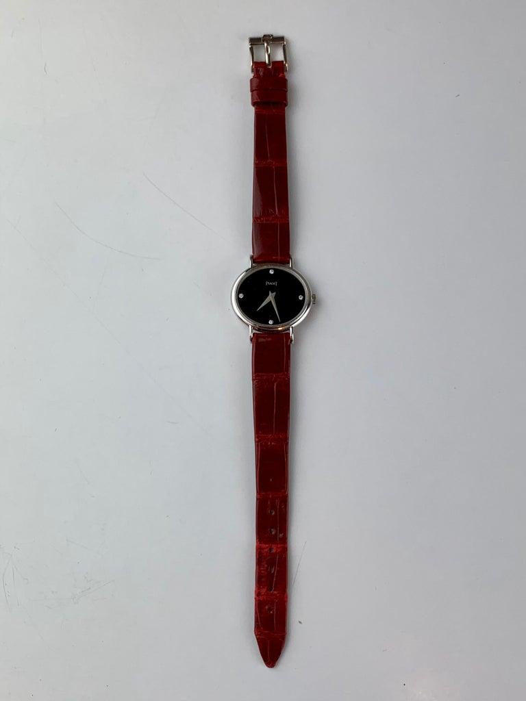 Piaget 9802 18 Carat Gold Diamond Wristwatch For Sale 5