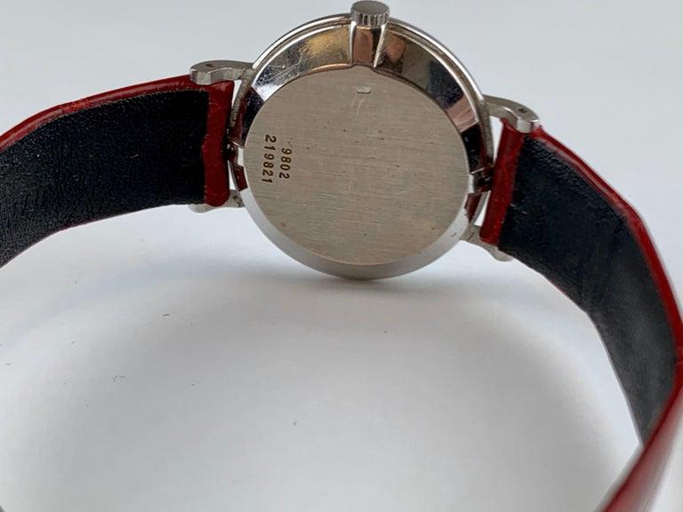 Women's Piaget 9802 18 Carat Gold Diamond Wristwatch For Sale