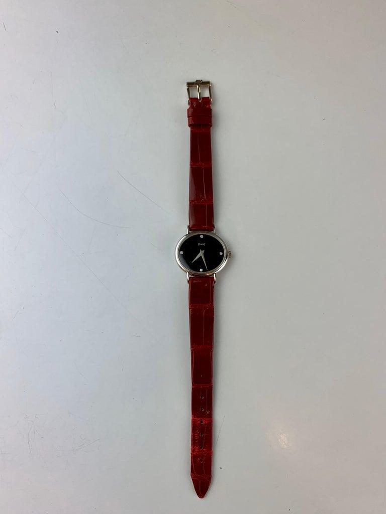 Piaget 9802 18 Carat Gold Diamond Wristwatch For Sale 1