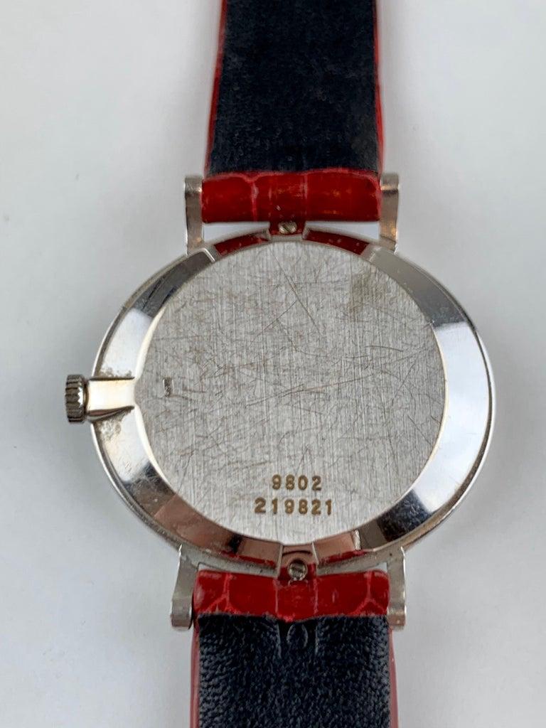 Piaget 9802 18 Carat Gold Diamond Wristwatch For Sale 2