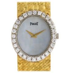 Piaget 9814 Mother of Pearl Dial Diamond Watch 18 Karat in Stock