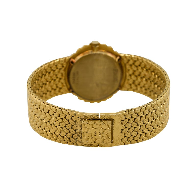Piaget 98174D2 18k Yellow Gold Diamond Pave Ladies Watch In New Condition For Sale In Boca Raton, FL