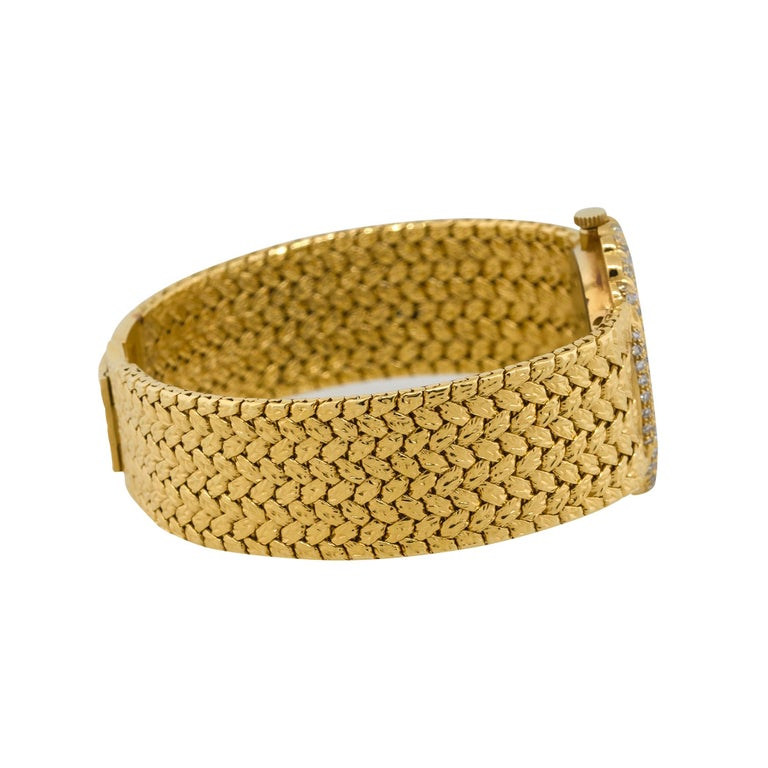 Piaget 98174D2 18k Yellow Gold Diamond Pave Ladies Watch For Sale 1