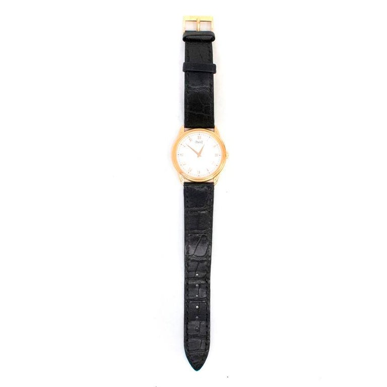 Piaget Altiplano Ultra Thin Unisex Watch with Leather Strap In Good Condition For Sale In London, GB