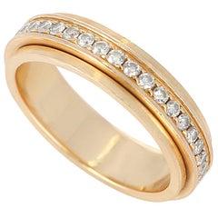 Piaget Anniversary Band with Diamonds, 18 Karat Yellow Gold