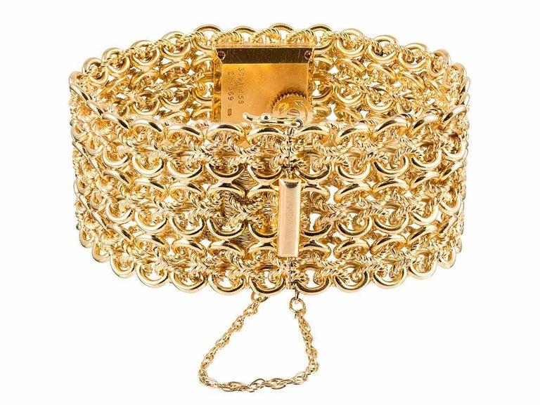 Women's or Men's Piaget Ladies Yellow Gold Tiger's Eye Dial Bracelet Manual Wristwatch For Sale