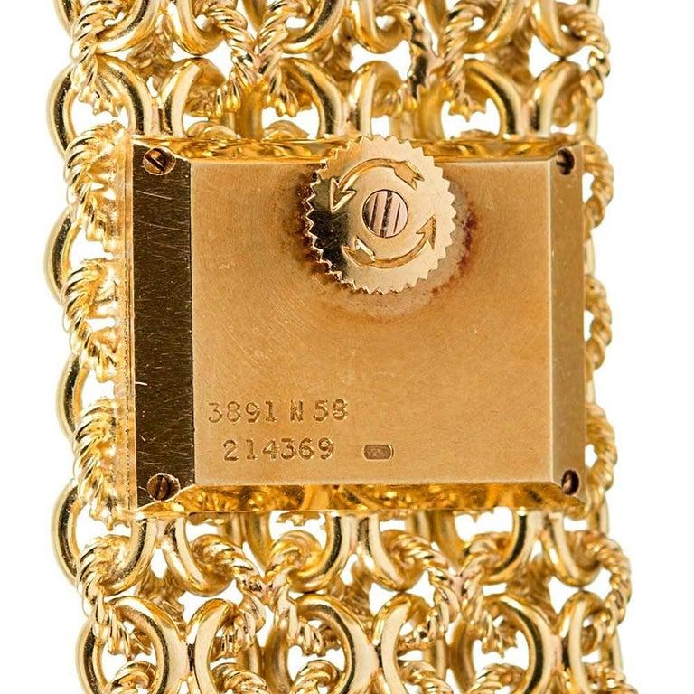 Piaget Ladies Yellow Gold Tiger's Eye Dial Bracelet Manual Wristwatch For Sale 1