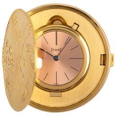Piaget Centenario 50 Pesos Coin Watch Gents 18 Karat Yellow Gold Rose Dial
