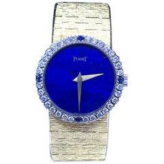 Piaget Classic 9706A6 18 Karat Yellow Gold Lapis Lazuli Dial Watch