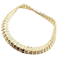 Piaget Classic Thick Limited Edition 1990 Yellow Gold Choker Necklace