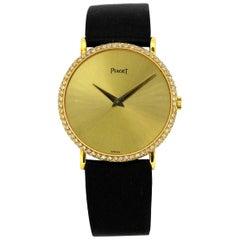 Piaget Classique 18 Karat Gold and Diamond Bezel Ladies Watch, 1990s