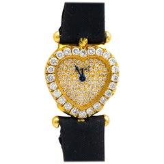 Piaget Classique Heart Watch Factory Set Diamonds