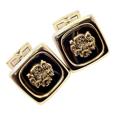 Piaget Coat of Arms Yellow Gold Cufflinks