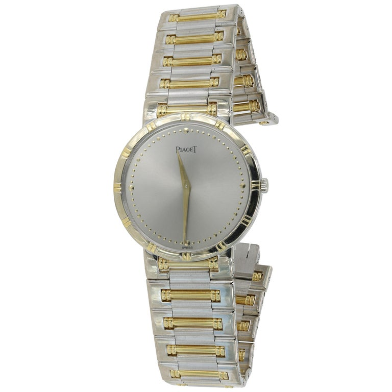 "Piaget ""Dancer"" Watch in Two-Tone 18 Karat White and Yellow Gold 'Pre-Owned' For Sale"