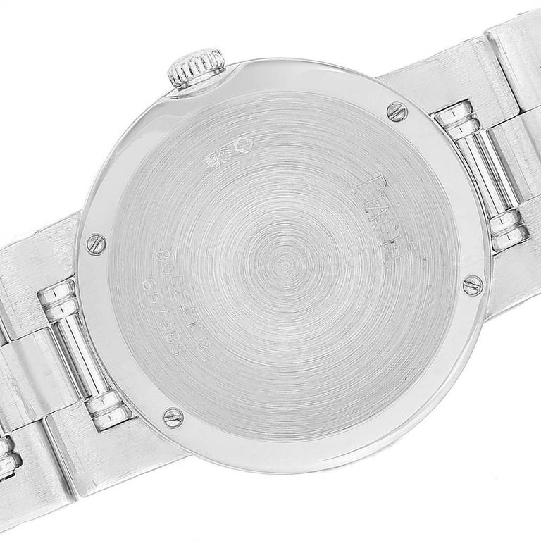 Piaget Dancer White Gold Mother of Pearl Diamond Ladies Watch 80564 For Sale 2