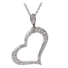 Piaget Diamond Heart White Gold Necklace