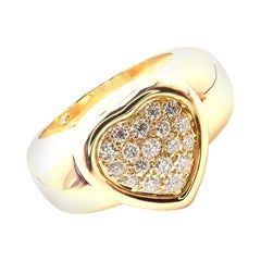Piaget Diamond Large Yellow Gold Heart Ring