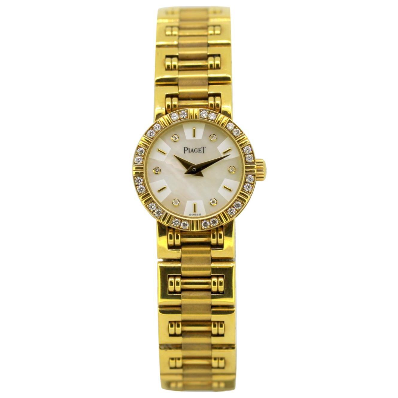 """Piaget Diamond """"Mini Dancer"""" 18 Karat Yellow Gold Ladies Wristwatch"""