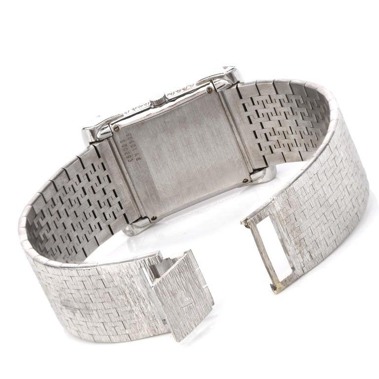 Women's Piaget Diamond Onyx 18 Karat White Gold Women's Watch For Sale