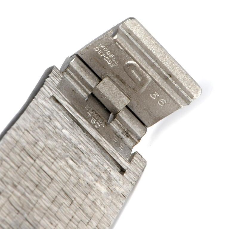 Piaget Diamond Onyx 18 Karat White Gold Women's Watch For Sale 1