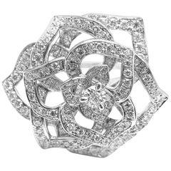 Piaget Diamond Rose Flower White Gold Ring