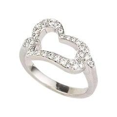 Piaget Diamond Set Heart Ring .31 Carat