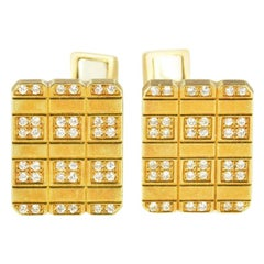 Piaget Diamond Square Cufflinks