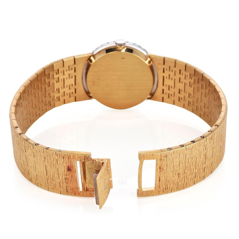 Women's PIAGET Diamond Tiger Eye Dial Diamond Bezel 18k Gold Watch
