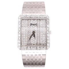 Piaget Diamond White Gold Dress Wristwatch Estate Fine Jewelry