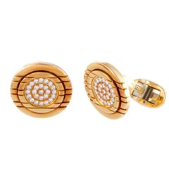 Piaget Diamond Yellow Gold Cufflinks