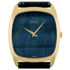Piaget Dress Watch Gents 18 Karat Yellow Gold Stone Dial 9591