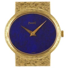 Piaget Dress Watch Ladies 18 Karat Yellow Gold Lapis Lazuli Dial 9801 A6