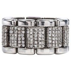 Piaget Flexible 18 Karat Wide Diamond Eternity Band Ring