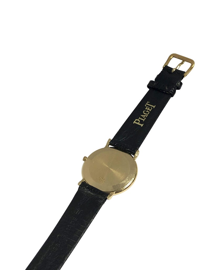 Piaget for Tiffany & Co. Yellow Gold Mechanical Wristwatch  For Sale 1