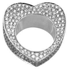 Piaget Full Diamond Heart Ring 18 Karat