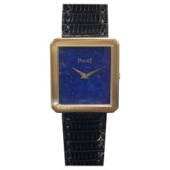 Piaget Gold and Lapis Lazuli stone Dial Mechanical Gents Wrist Watch