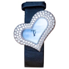 Piaget Heart Wristwatch Mother of Pearl Dial Diamond Set 18K Gold GOA29131