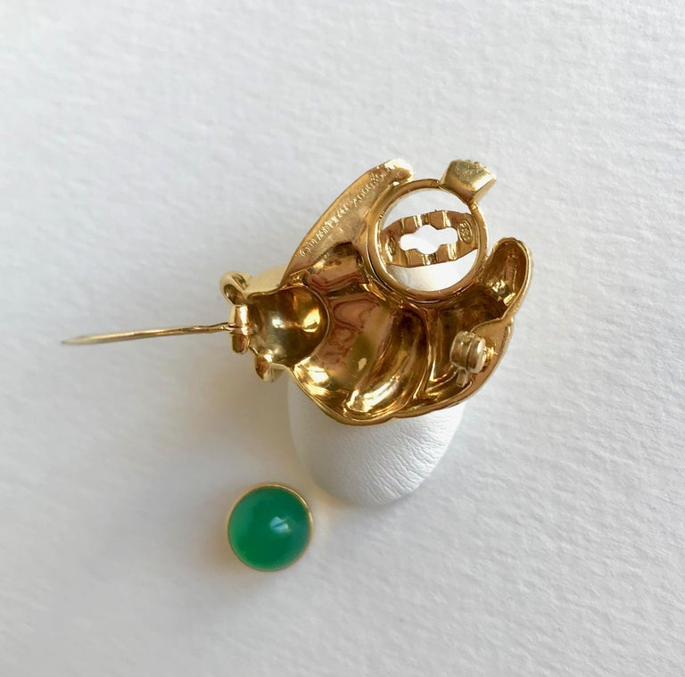 Piaget Koala Brooch in 18 Karat Yellow Gold and Chrysoprase For Sale 2