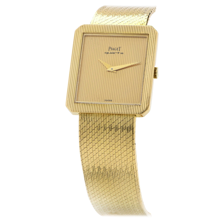 Piaget Ladies 18 Karat Yellow Gold Watch