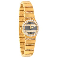 Piaget Ladies Diamond Onyx Gold Watch