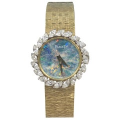 Piaget Ladies Gold Diamond and Opal Dial Mechanical Wristwatch